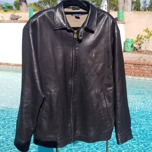 Leather Polo Jacket